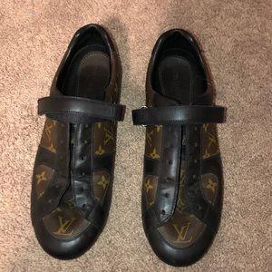 Louis Vuitton driving shoes. No laces